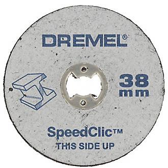 5 disques métaux à tronçonner Dremel SpeedClic 38 mm
