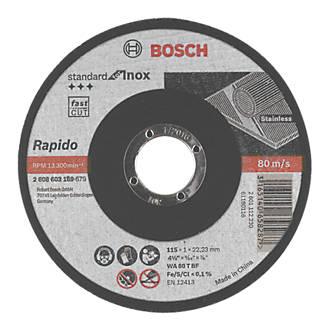 """Lot de 10disques à tronçonner pour métal Bosch 4½"""" (115mm) x 1 x 22,23mm"""