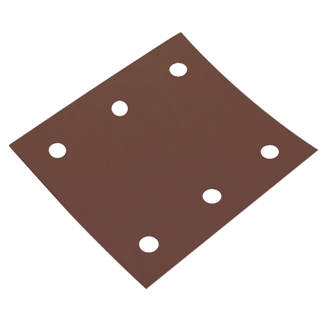 Lot de 5feuilles abrasives perforées Flexovit ¼ 114 x 102mm grain60