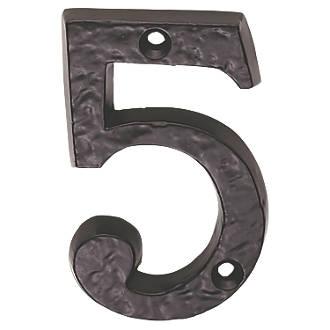 Numéro de porte5 Ludlow Carlisle Brass noir antique 78mm