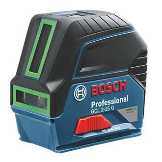 Niveau laser en croix à mise à niveau automatique vert GCL215G Bosch