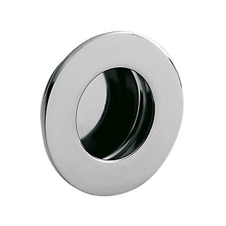 Poignée de tirage encastrée circulaire Eurospec 48mm en acier inoxydable poli