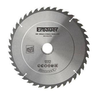 Lame de scie TCT 40dents Erbauer 254 x 30mm