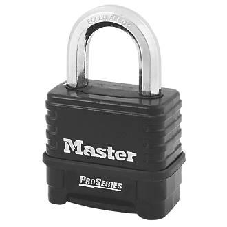 Cadenas à combinaison résistant aux intempéries en acier laminé Master Lock ProSeries 60mm