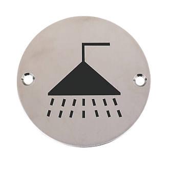 Panneau de douche en acier inoxydable satiné 76mm