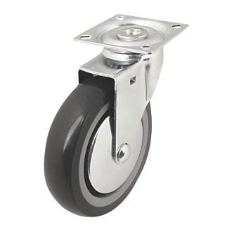 Roulette pivotante en caoutchouc thermoplastique à usage intensif 100mm
