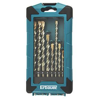 Forets de maçonnerie à queue droite Erbauer, 10pièces