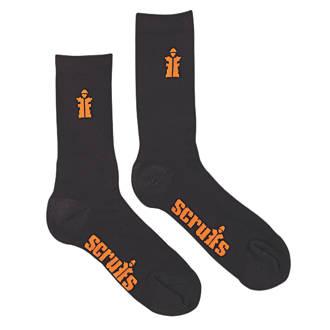 Chaussettes de travail Scruffs noires taille 41-43, 3paires