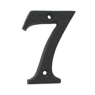 Numéro de porte7 Ludlow Carlisle Brass noir antique 78mm