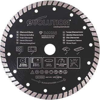 Disque diamant Turbo pour maçonnerie/pierre Evolution 185 x 20mm