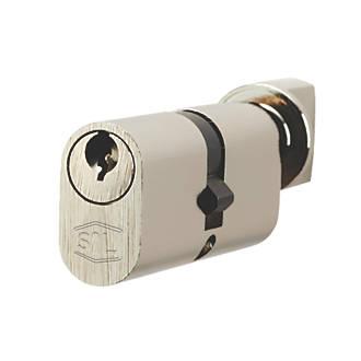 Cylindre ovale à 5points et bouton-poucier Smith & Locke 35-35 (70mm) Nickel