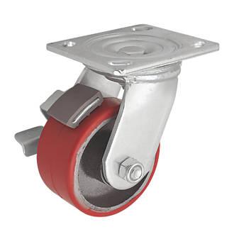 Roulette pivotante industrielle avec frein 100mm