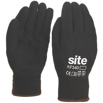Gants de travail d'hiver à doublure thermique Site KF340 noirs tailleM