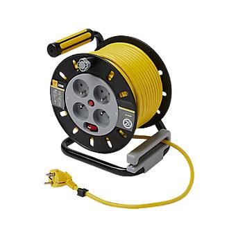 Enrouleur de bricolage Diall HO5VVF 4 prises 1.5mm² 25m