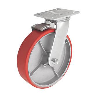 Roulette pivotante industrielle avec frein 200mm