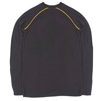 """T-shirt à manches longues Site Base Layer noir tailleXL, tour de poitrine 48"""""""
