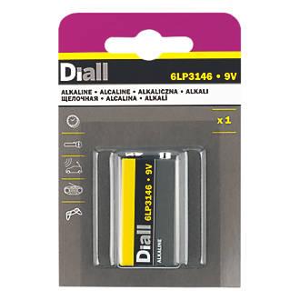 Pile alcaline 9V Diall