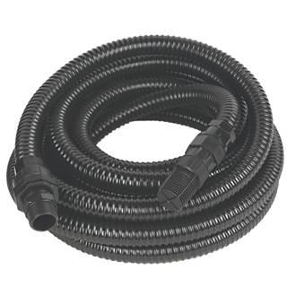 """Tuyau de pompe renforcé avec filtre (24mm) noir 7m x0,8"""""""