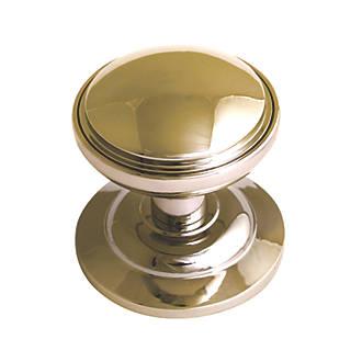 Poignée de porte ronde décorative Fab&Fix dorée polie 75mm