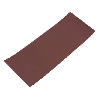 Lot de 10feuilles abrasives non perforées Flexovit ⅓ 230 x 93mm grain180
