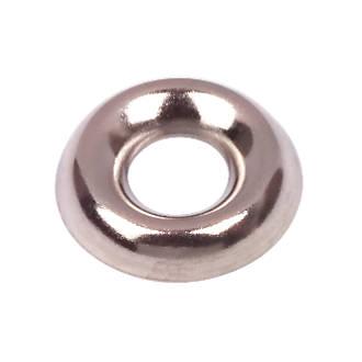 200caches de vis en acier au carbone finition nickelée calibre8