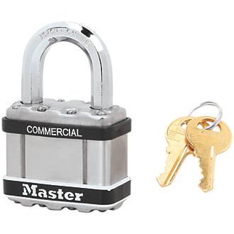 Cadenas à clé commune résistant aux intempéries en acier laminé Master Lock Excell 54mm