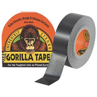 Ruban adhésif toilé colle Gorilla maille48 noir 32m x48mm