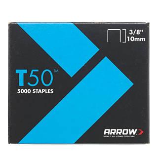 5000agrafes à usage intensif galvanisées Arrow10 x10mm