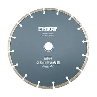 Disque de coupe diamant segmenté pour maçonnerie/pierre Erbauer 230 x 22,2mm