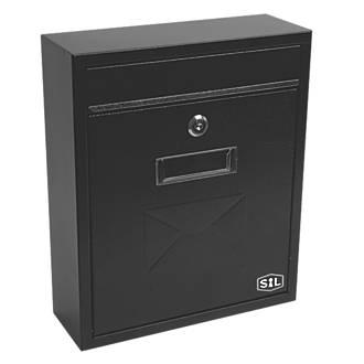 Boîte aux lettres compacte Smith&Locke à revêtement par poudrage noir