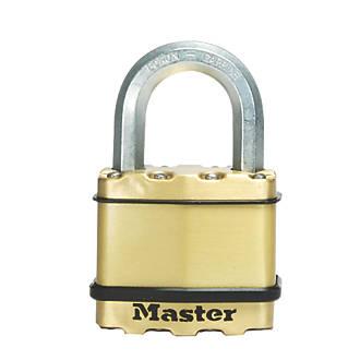 Cadenas résistant aux intempéries en acier laminé Master Lock Excell 52mm