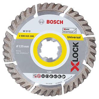 Disque de coupe diamant pour béton/pierre Bosch X-Lock 125 x 22,23mm