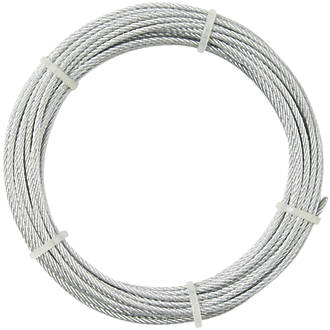 Câble métallique Diall argent 4mm x 10m