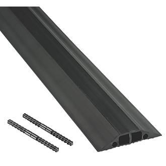 Cache-câble multiple D-Line à usage moyennement intensif noir 9m