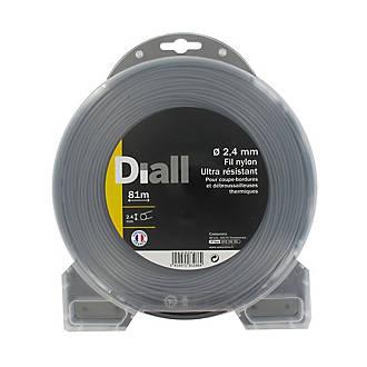 Fil de nylon titanium Diall Ø2,4mm 81m