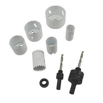 Jeu de scies-cloches bimétal multi-matériaux pour électriciens, 9pièces