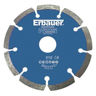 Disque diamant à déjointer pour maçonnerie/pierre Erbauer 115 x 22,23mm
