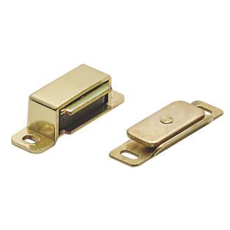 Loqueteau magnétique Carlisle Brass laitonné par électrolyse15 x14mm