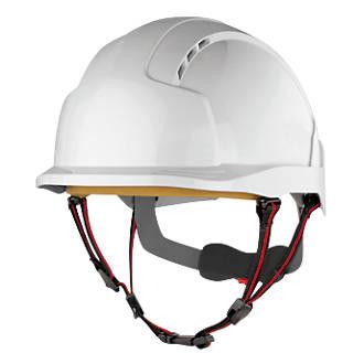 Casque de sécurité en hauteur industriel JSP Evolite Skyworker blanc
