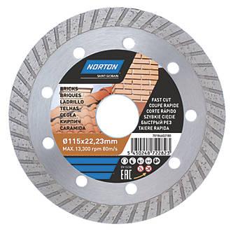Disque de coupe diamant multi-matériaux Norton 115 x 22,23mm