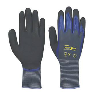 Gants à doigts trempés à la mousse de nitrile Towa ActivGrip CJ-568 violets tailleL