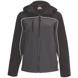 Veste Softshell imperméable pour femme Site Kardal noir / gris taille12-14