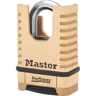 Cadenas à anse fermée résistant aux intempéries en laiton Master Lock 1177D 58mm