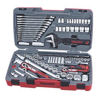 """Assortiment d'outils et de douilles à entraînement ¼"""", ⅜"""" et ½"""" Teng Tools 127pièces"""