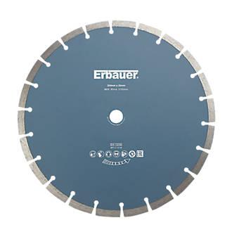 Disque de coupe diamant segmenté pour maçonnerie/pierre Erbauer 300 x 20mm