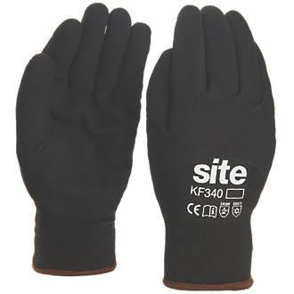 Gants de travail d'hiver à doublure thermique Site KF340 noirs tailleL
