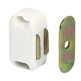 10loqueteaux magnétiques pour placard blancs 32 x20mm