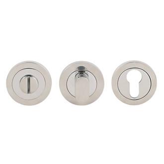 Kit de verrou à bouton à barrette standard Serozzetta en acier inoxydable brillant 52mm