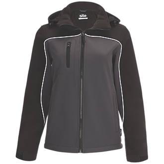 Veste Softshell imperméable pour femme Site Kardal noir / gris taille8-10