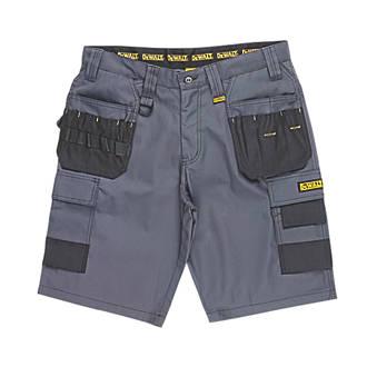 """Short de travail multi-poches DeWalt Ripstop gris / noir, tour de taille 30"""""""